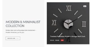 Attention modern an minimalist Décor fanatics. Score Spree Deals like this Timeless Modern-Vintage Wall Clock - Now Only $10 + FREE SHIPPING!!!  Login today TheDollarSpree.com  #thedollarspree #homedecor #modern #minimalism #sale #hgtv